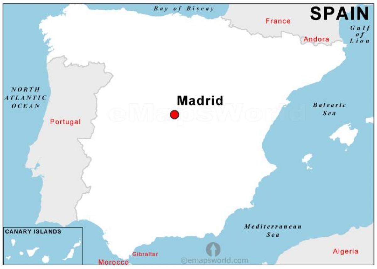 Madrid Capital De España Mapa.Capital De Espana Mapa Plano De Capital De Espana Espana