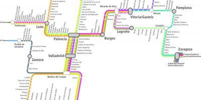 Mapa De Tren Madrid.Madrid Mapa Mapas Madrid Espana